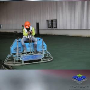 งาน ขัดพื้นโรย Floor hardener (สีเขียว)